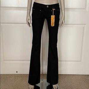 SAMPLE! Dittos Low Rise Black Denim Flare Jeans